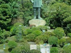 30分ごとにバスは発車しますが、バスは満員。平日ですが、良く晴れた春休みですので、観光客が多いです。  西郷さんの銅像です。
