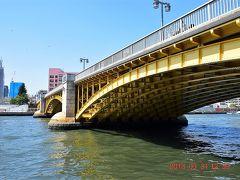 蔵前橋を潜ります。  1927年竣工、長さ173.4mあります。