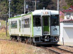 三春駅からいわき行の列車に乗り継いで神俣という駅まで行きます。