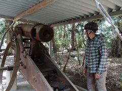 砂かけ祭りの神事で有名な「廣瀬神社」に陳列してある日露戦争の戦利品。こんな大砲を押して兵隊達は戦っていたのでしょうか、と老兵の様な知人が感心してみています。