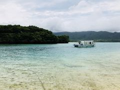 川平湾です 曇り空のため、海の色はイマイチですね