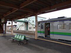 終点の長万部駅へ、到着しました。