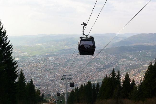 トレベヴィチ山(Trebevic)まで...