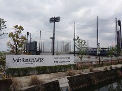タマホームスタジアム筑後、略してタマスタ!2年前の2016年に完成した、ホークスの2軍本拠地です。