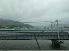 天気予報だと静岡あたりが前線の影響を受けるよう・・・ 車掌さんの遅延アナウンスで近鉄特急予約の変更に右往左往、 最初は10分、次は15分、 名古屋での乗り換えは21分しかない!