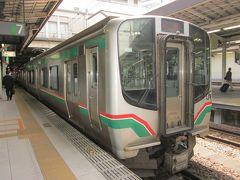 4/22(日) ホテルの送迎バスで仙台駅まで戻って来ました。  今日は市内で「羽生結弦仙台パレード2018」が有るそうで凄いことになっているようですよ?~。  午後からJR仙山線、普通列車で作並へ向います。