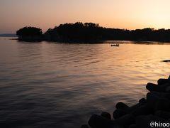 今日の最終目的地、九十九湾に到着。夕日が沈むのを間一髪で逃しました。 九十九湾は日本百景に選ばれたリアス式海岸。 宿泊地は国民宿舎能登うつし荘。