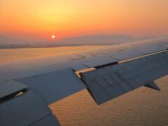 1時間強で島根に到着です。飛行機から見る【宍道湖】の夕景がとても綺麗でした。