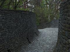最初の目的地「石の教会 内村鑑三記念堂」  なんと(゚д゚)! 結婚式中とのことで入口で足止めされました…