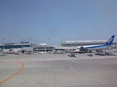 長い空の旅を終えて、定刻通り那覇空港到着。