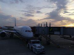 成田空港から出発します。