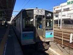 松本駅から大糸線で穂高駅へ