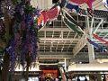 4月29日、日曜日。21:00に羽田空港に到着。 日付が変わった4月30日、0:01の飛行機に搭乗予定です。 羽田空港には鯉のぼりが飾られていました。 手前には、綺麗な藤棚もありましたが、さすがに造花でした。