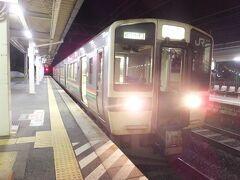 米沢19:20>>奥羽本線普通山形行457M>>高畠19:31 久々の電車。