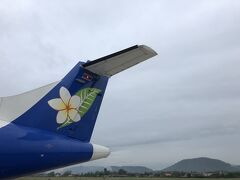 ラオス航空。バンコク経由でミャンマーに向かいます。