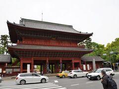 増上寺の三解脱門(三門) 4トラの地図の場所が違います。