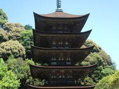 京都などとは違って自然の中に五重塔がある