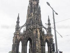 スコット(劇作家)記念塔。 新市街にある有名なモニュメント、登れるらしい。