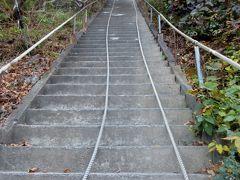 大田山神社はこの急な階段を登って行く。
