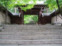 法輪寺山門 やはり濃い緑が心地よい。
