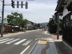 店を出て七日町通りを通って若松城へ。