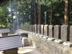 白虎隊の墓。