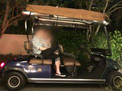 ロビーか宿泊のヴィラまではバトラーさんの運転するバギーで送ってもらいました。