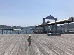 下関関門海峡を眺めながら、まずは唐戸市場へ。唐戸市場の駐車場は激混みなので、海響館付近の駐車場にとめました(30分200円)