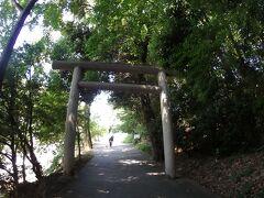 登っていくと鳥居がありました。  この先の右側に東雲神社がありました。