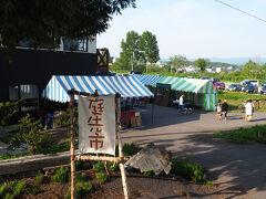 倶知安町へ来た目的は芝桜 7年ぶりにやってきましたがすっかり観光地と化していました 芝桜の開花に合わせてちょっとした屋台なんかも出ています