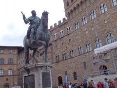 シニョーリア広場です。コジモ1世騎馬像が迎えてくれます。