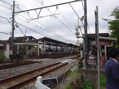 北鎌倉駅(学生さんと観光客とでホームが一杯になりました。)