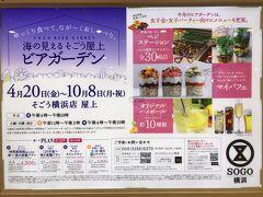 『そごう』横浜店では「海の見えるそごう屋上ビアガーデン」が開催中。