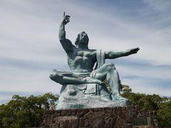 平和記念像の前ではいろいろ考えさせられました。