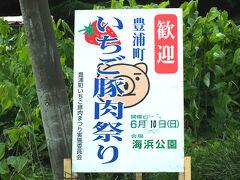 豊浦町は噴火湾で漁れるほたてが有名ですが 初夏には特産のいちごと豚肉が満喫できる いちご豚肉祭りが開催されます