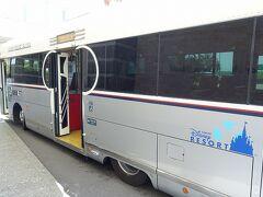 ラウンジでゆっくりした後は、リゾートクルーザー(シャトルバス)の舞浜駅行きに乗車! 舞浜駅行きは20分間隔、ベイサイドステーション行きは8~10分間隔で運行していて、ホテル利用者は無料で乗車出来ます。