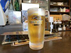まずは生中。 この日の愛媛は暑かったので、 歩いた後のビールが美味しい。