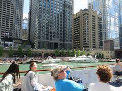 リバークルーズで シカゴの色々な建築を見て回る