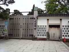 成巽閣。入りたかったけど残念。休館日。金沢は水曜日お休みが多い気がする。