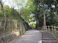さて次は岡寺です。 駐車場から少し登って行きます。 木陰が気持ちいいです。