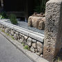 ●叡山登り口@鶴喜そば本店  鶴喜そば本店のそばに、叡山登り口のサイン。 歴史ありそうなサインですね。