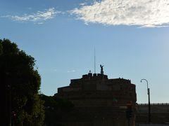 逆光で真っ黒だけど、サンタンジェロ城も見えました。