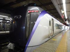 今回、新宿から特急で甲府までまず進む。新型353系スーパーあずさには、初めて乗車した。