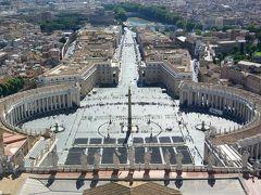 クーポラの展望台からの眺め(サン・ピエトロ広場側)  *731