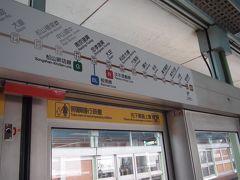 南京復興駅で文湖線に乗り換え。 台湾の地下鉄は路線によって色も分かれているしとてもわかりやすい。 日本人は漢字も読めるので全く問題ないですよね。