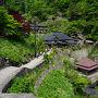 ●開山堂から@立石寺  下山していきます。 時間をとっていきます。 12:21。