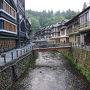 ●銀山温泉  朝食前の散歩です。 早朝散歩。
