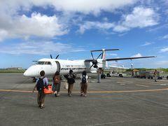 宮古空港にて、今回全メンバー9名が集結し多良間島行きの飛行機に乗り込みます