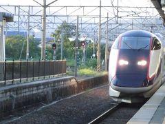 山形新幹線つばさ 帰りはかみのやま温泉から切符を取っていたが、赤湯から乗車。新幹線も遅れていた。