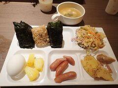 2月2日朝。 滞在中のコンフォートホテル奈良の無料朝食バイキング。 無料にしては種類も多くて嬉しいです。